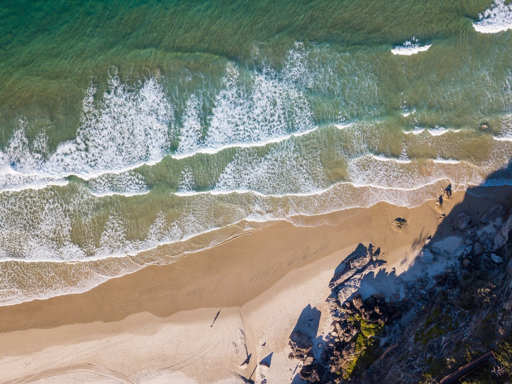 aerial shot of australia ocean