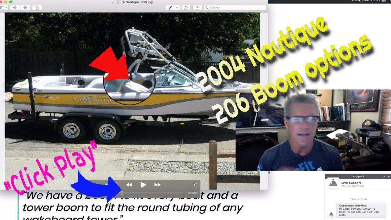 2004 Nautique 206 boom options