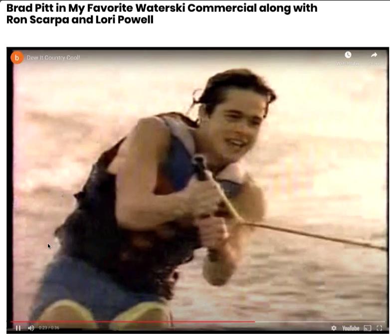 Brad Pitt Waterskiing