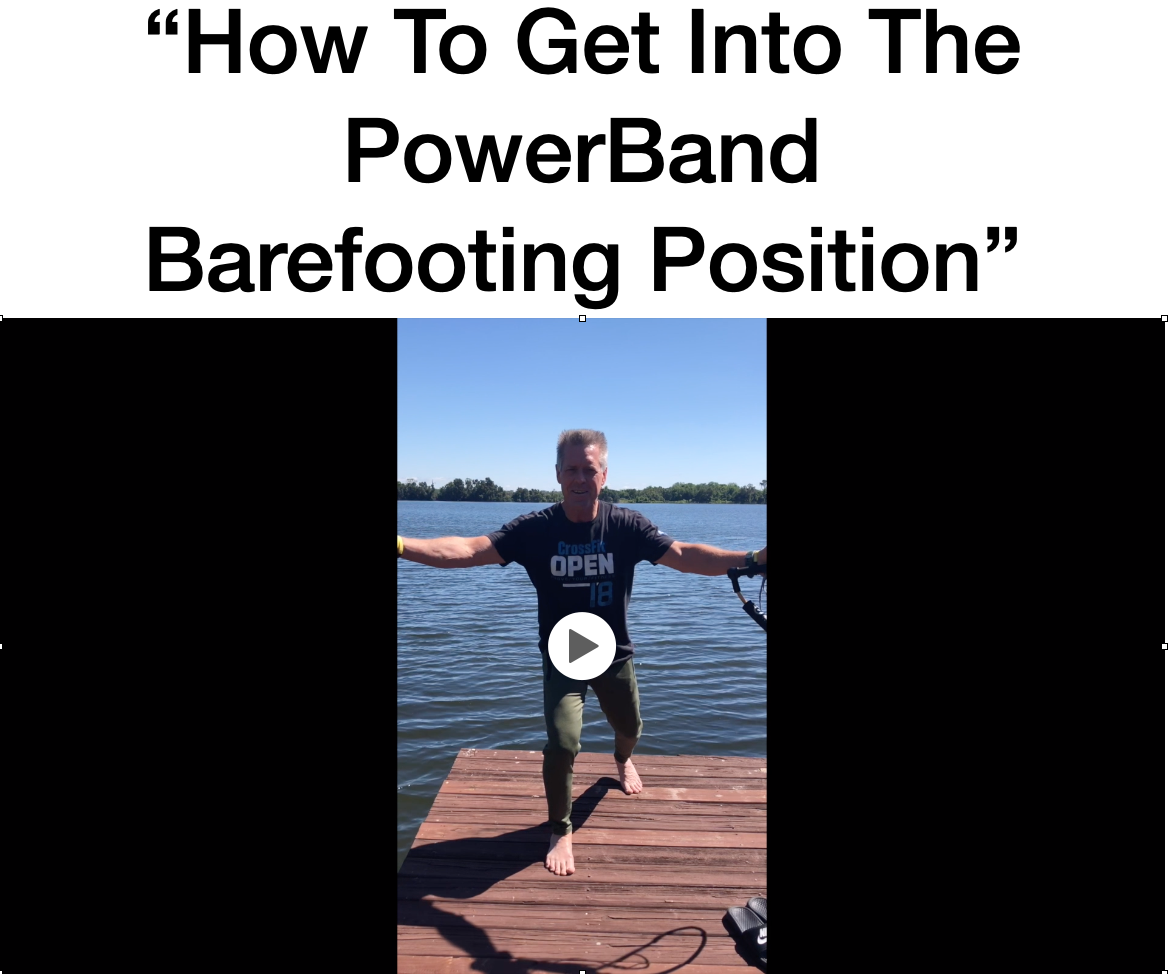 How to get into the PowerBand position