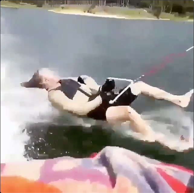 Barefoot Skiing Speeds Not Like THis
